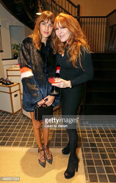 Alexa Chung and Charlotte Tilbury attend the M'oda 'Operandi launch on September 12 2014 in London England