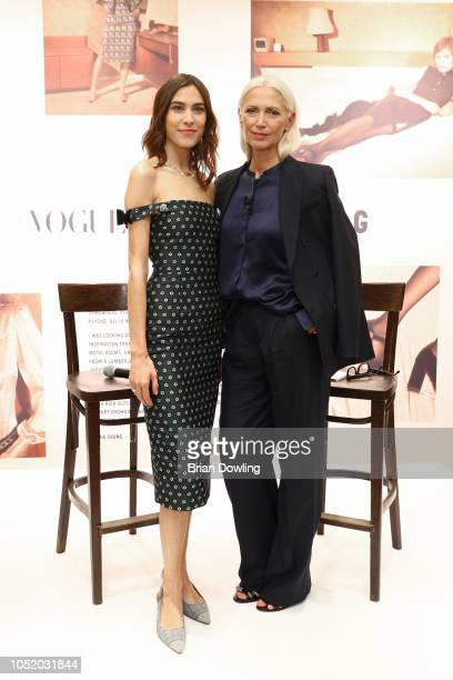 Alexa Chung and Christiane Arp attend the 'Strike A Pose Weekend En Vogue' event at KaDeWe on October 12 2018 in Berlin Germany