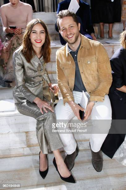Alexa Chung and Derek Blasberg attend the Christian Dior Couture S/S19 Cruise Collection on May 25 2018 in Chantilly France