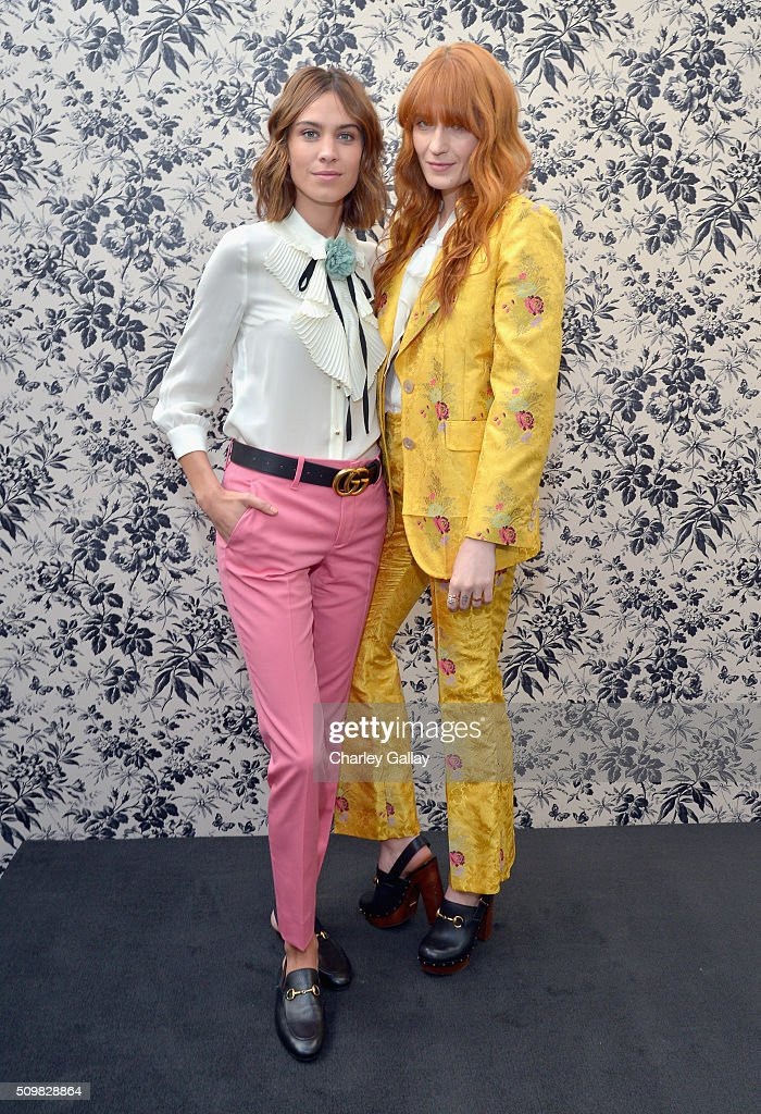 Gucci Timepieces And Jewelry Announces Florence Welch As 2016 Brand Ambassador : News Photo