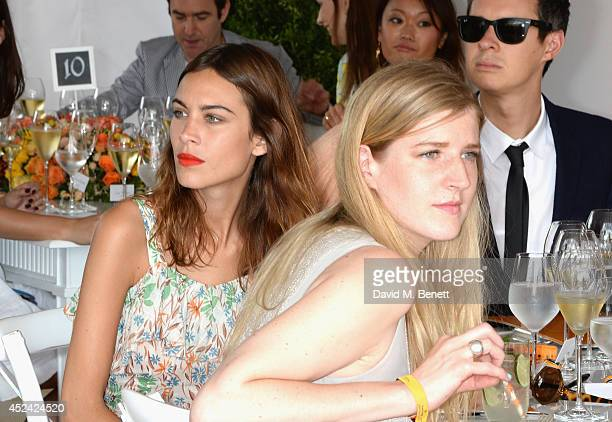 Alexa Chung and Gillian Orr attends the Veuve Clicquot Gold Cup Final at Cowdray Park Polo Club on July 20 2014 in Midhurst England