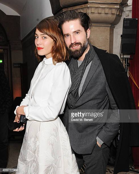 Alexa Chung and Jack Guinness attend the British Fashion Awards Nominees' Dinner hosted by Grey Goose at the Soho House PopUp on November 29 2014 in...