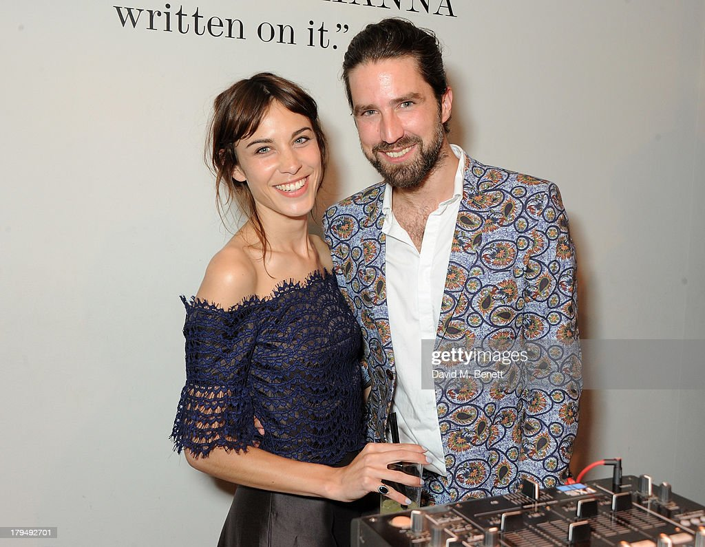Alexa Chung (L) and Jack Guinness attend the launch of Alexa Chung's first book 'It' at Liberty on September 4, 2013 in London, England.