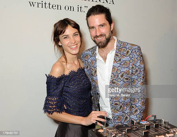 Alexa Chung and Jack Guinness attend the launch of Alexa Chung's first book 'It' at Liberty on September 4 2013 in London England