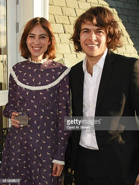 Alexa Chung and James Righton attend The London EDITION's Summer Solstice Dinner hosted by Leith Clark Violet Book on June 20 2016 in London England