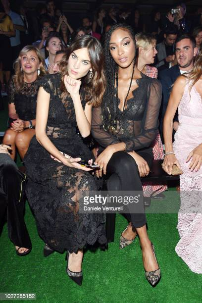 Alexa Chung and Jordan Dunn attend the Intimissimi Show on September 5 2018 in Verona Italy