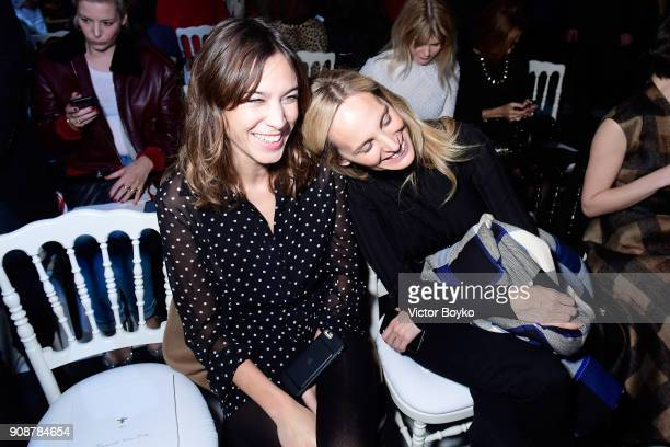 Alexa Chung and Lauren Santo Domingo attend the Christian Dior Haute Couture Spring Summer 2018 show as part of Paris Fashion Week on January 22 2018...