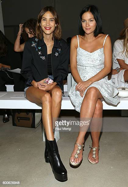 Alexa Chung and Leigh Lezark attend the Noon By Noor fashion show during New York Fashion Week The Shows September 2016 at The Gallery Skylight at...