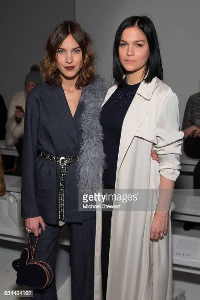 Alexa Chung and Leigh Lezark attend the Noon by Noor show during February 2017 New York Fashion Week The Shows at Gallery 3 Skylight Clarkson Sq on...