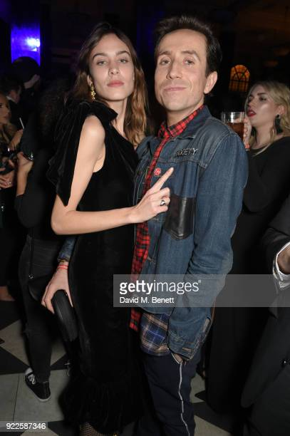 Alexa Chung and Nick Grimshaw attend the Universal Music BRIT Awards AfterParty 2018 hosted by Soho House and Bacardi at The Ned on February 21 2018...