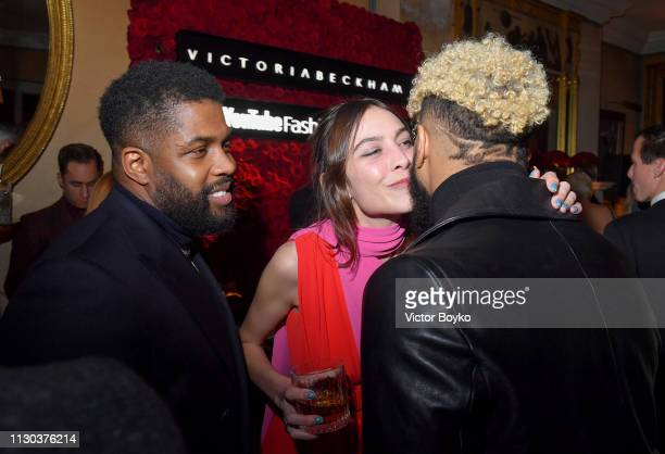 Alexa Chung and Odell Beckham Jr attend the Victoria Beckham x YouTube Fashion Beauty After Party at London Fashion Week hosted by Derek Blasberg and...