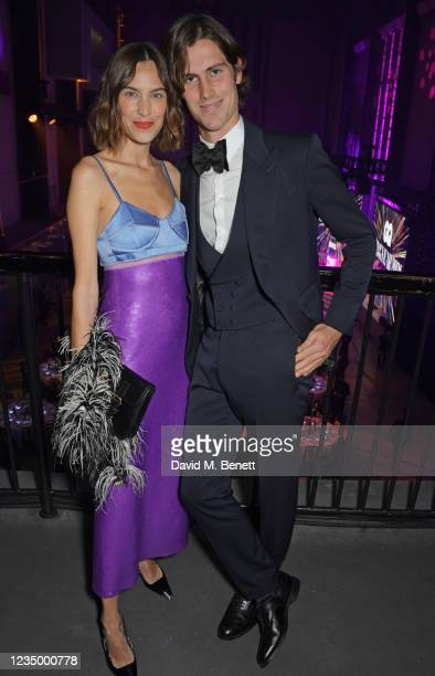 Alexa Chung and Orson Fry attend the 24th GQ Men of the Year Awards in association with BOSS at Tate Modern on September 1, 2021 in London, England.