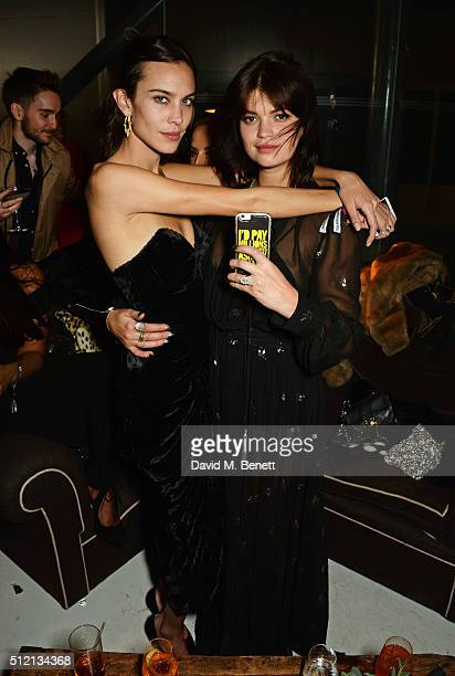 Alexa Chung and Pixie Geldof attend the Universal Music BRIT Awards AfterParty 2016 in collaboration with Soho House and BACARDI on February 24 2016...