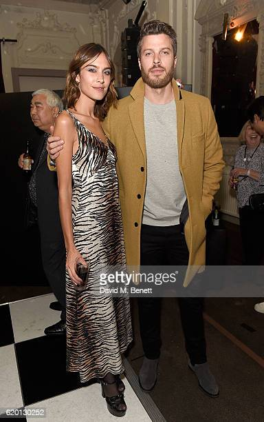 Alexa Chung and Rick Edwards attend as Marks and Spencer and Alexa Chung celebrate 'The Winter Archive by Alexa Collection' with a launch party at...