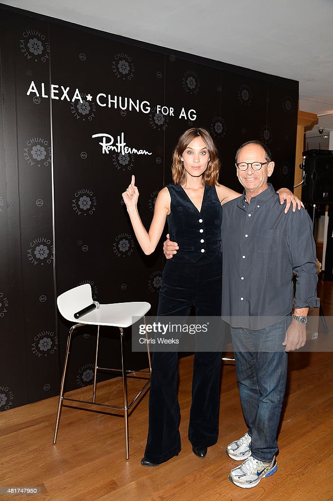 Alexa Chung and Ron Herman attend the launch of Alexa Chung X AG PA at Ron Herman on July 23, 2015 in Los Angeles, California.