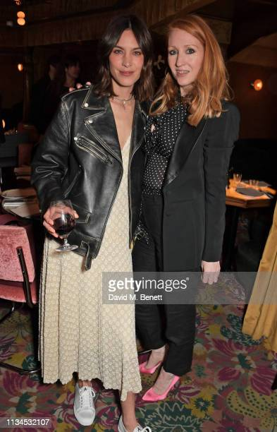 Alexa Chung and Sarah Shotton attend an exclusive dinner to celebrate the launch of the Alexa Chung and Superga SS19 collection at Gloria Trattoria...