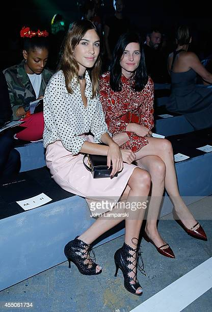 Alexa Chung and Tabitha Simmons attend Marc By Marc Jacobs during MercedesBenz Fashion Week Spring 2015 at Pier 94 on September 9 2014 in New York...