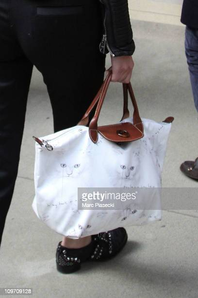 Alexa Chung arrives at Gare du Nord on March 2, 2011 in Paris, France.