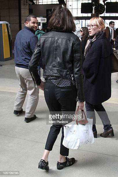 Alexa Chung arrives at Gare du Nord on March 2 2011 in Paris France