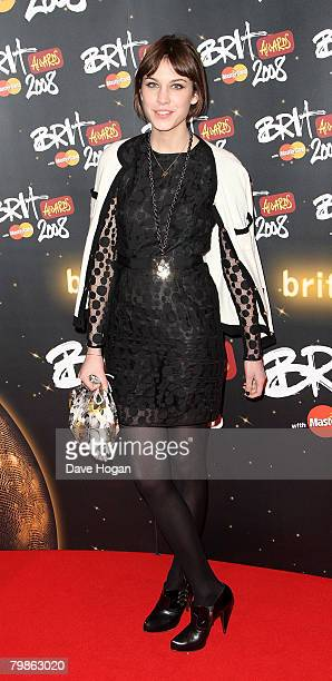 Alexa Chung arrives at the BRIT Awards 2008 at Earls Court 1 on February 20 2008 in London England