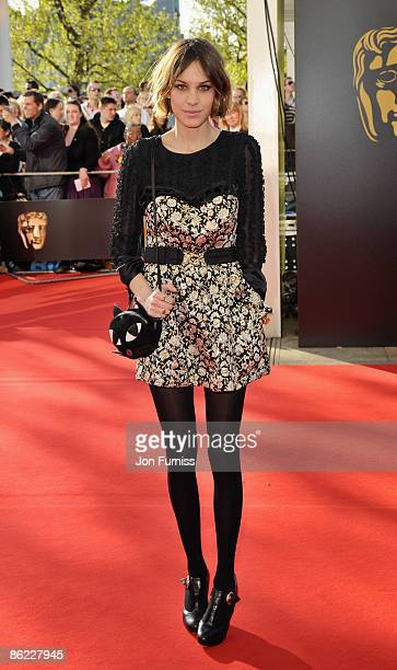 Alexa Chung arrives at the British Academy Television Awards held at The Royal Festival Hall on April 26, 2009 in London, England.