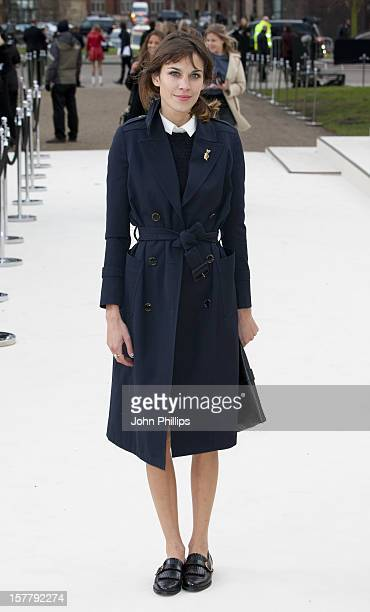 Alexa Chung Arrives At The Burberry Autumn Winter 2012 Womenswear Show During London Fashion Week At Kensington Gardens