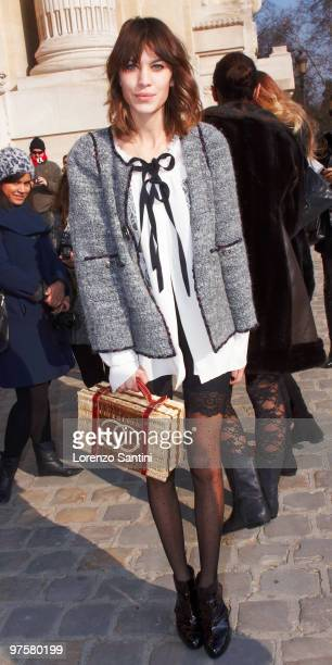 Alexa Chung arrives at the 'Chanel Ready to Wear' show as part of the Paris Womenswear Fashion Week Fall/Winter 2011 at Grand Palais on March 9 2010...