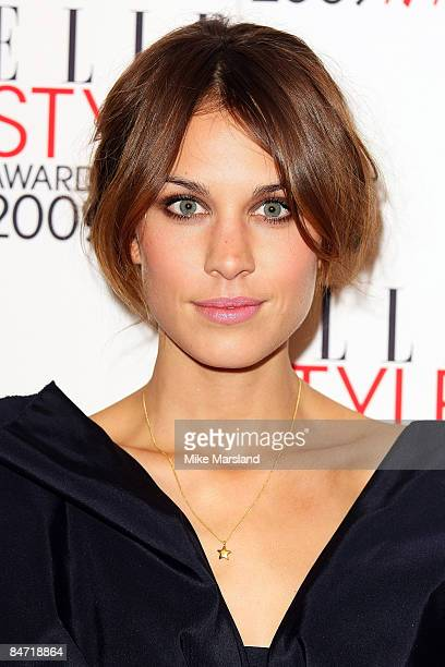 Alexa Chung arrives at the Elle Style Awards 2009 at Big Sky Studios on February 9, 2009 in London, England.