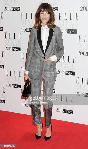 Alexa Chung arrives at the ELLE Style Awards at The Savoy Hotel on February 13 2012 in London England