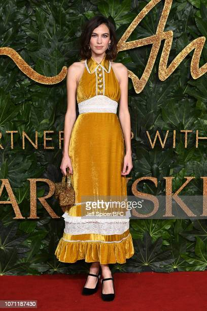 Alexa Chung arrives at The Fashion Awards 2018 In Partnership With Swarovski at Royal Albert Hall on December 10 2018 in London England