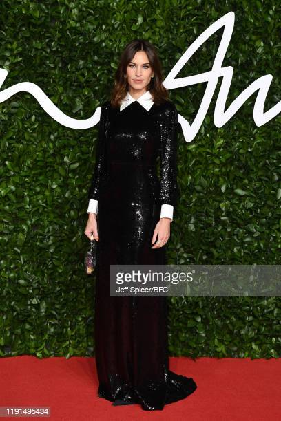 Alexa Chung arrives at The Fashion Awards 2019 held at Royal Albert Hall on December 02 2019 in London England