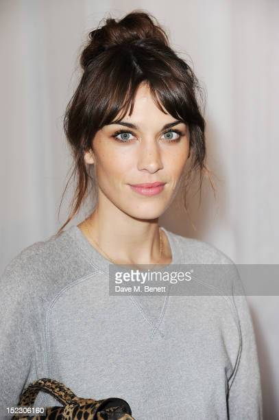 Alexa Chung arrives at the Mulberry Spring Summer 2013 Show during London Fashion Week at Claridge's on September 18 2012 in London England
