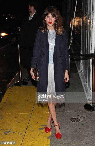 Alexa Chung arrives at The Ninth Annual CFDA/Vogue Fashion Fund Awards at 548 West 22nd Street on November 13 2012 in New York City