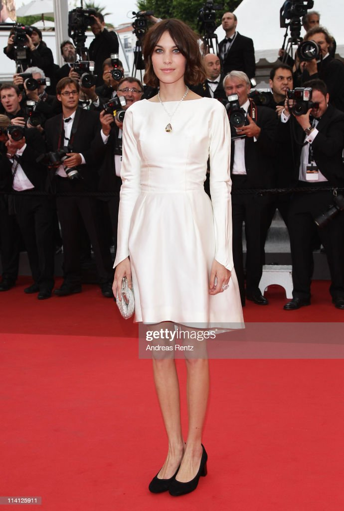 Alexa Chung arrives at the 'Sleeping Beauty' premiere during the 64th Annual Cannes Film Festival at the Palais des Festivals on May 12, 2011 in Cannes, France.