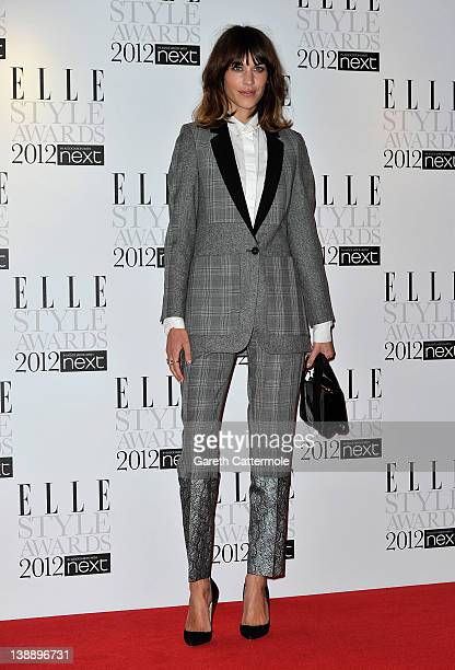 Alexa Chung arrives for The Elle Style Awards 2012 at The Savoy Hotel on February 13 2012 in London England