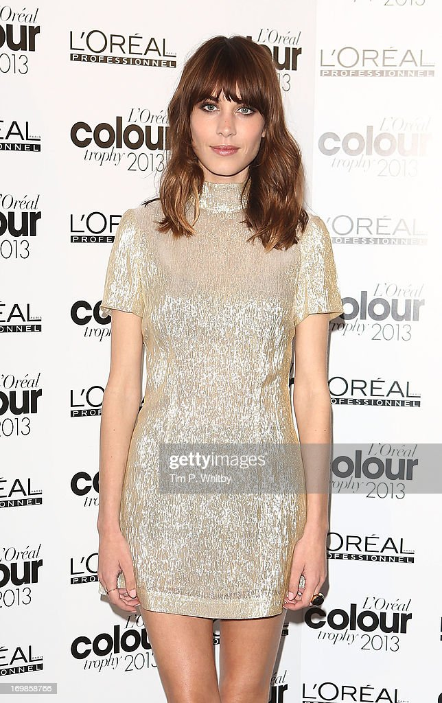Alexa Chung arrives the L'Oreal Colour Trophy Awards 2013 at Grosvenor House, on June 3, 2013 in London, England.