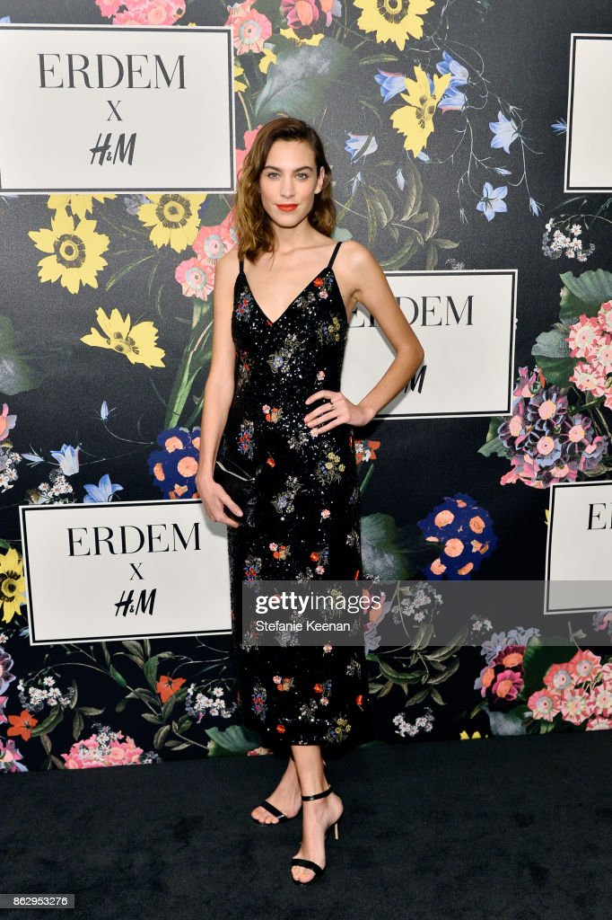 Alexa Chung at H&M x ERDEM Runway Show & Party at The Ebell Club of Los Angeles on October 18, 2017 in Los Angeles, California.