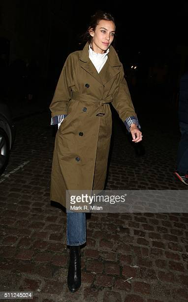Alexa Chung at the Chiltern Firehouse on February 18 2016 in London England