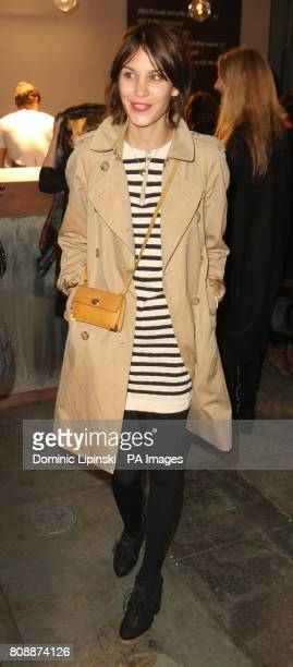 Alexa Chung at the Unique Catwalk show Topshop Venue London as part of London Fashion Week