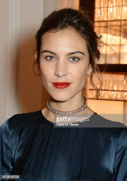 Alexa Chung attend as mytheresacom and Burberry celebrate the new MYT Woman at Thomas's on February 21 2016 in London England