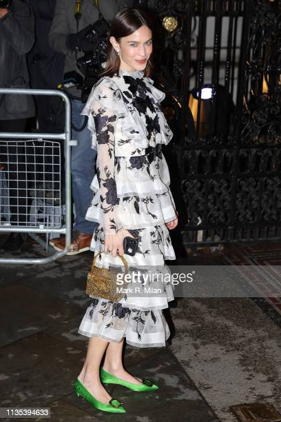 Alexa Chung attending the National Portrait Gallery gala on March 12 2019 in London England