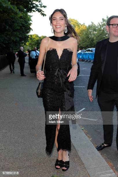 Alexa Chung attending the Serpentine Gallery and Chanel Summer Party 2018 on June 19 2018 in London England