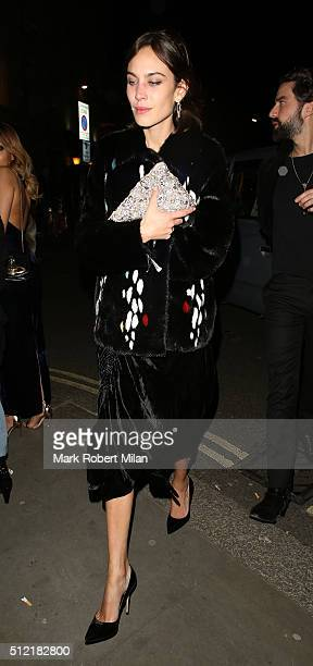 Alexa Chung attending the The Brit Awards Warner Music Group After Party on February 24 2016 in London England