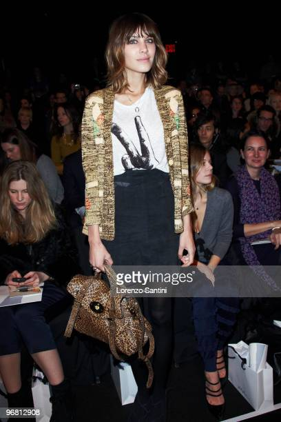 Alexa Chung attends 3.1 Phillip Lim during Mercedes-Benz Fashion Week Fall 2010 at Bryant Park on February 17, 2010 in New York City.