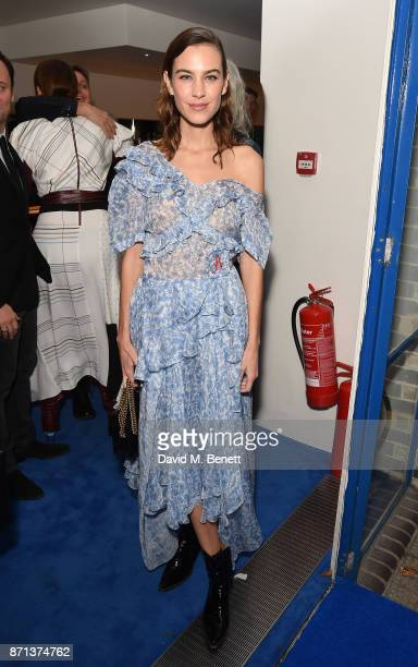 Alexa Chung attends a dinner hosted by Jonathan Newhouse and Albert Read for Edward Enninful to celebrate the December issue of British Vogue at the...