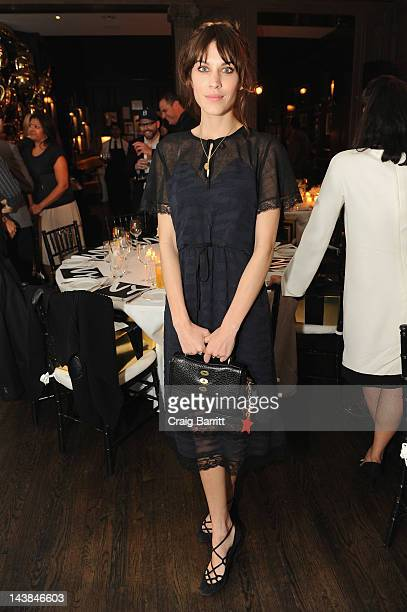 Alexa Chung attends a dinner in honour of Frieze Project Artists hosted by Frieze Art Inc and Mulberry at Crown on May 4 2012 in New York City