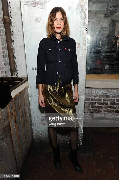 Alexa Chung attends a holiday dinner in support of the UN Women's Global Movement For Gender Equality HeForShe hosted by AG Alexa Chung on December...