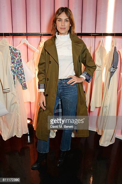 Alexa Chung attends a party hosted by Marks and Spencer The British Fashion Council and Alexa Chung to kick off London Fashion Week and celebrate the...