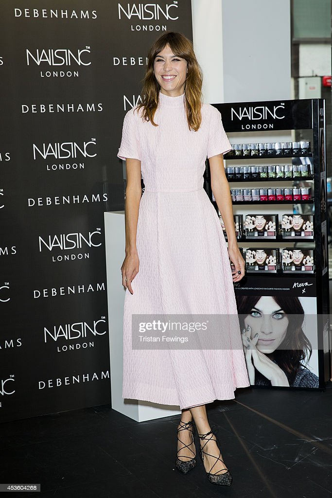 Alexa Chung Launches Alexa Manicure At Debenhams : News Photo