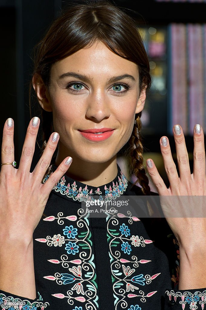 Alexa Chung Attends A Photocall To Launch Nails Inc The Editions At Selfridges On